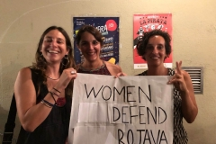 Catalonian revolutionaries stand with Rojava